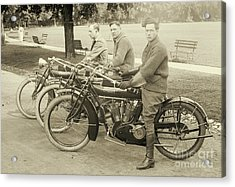 Indian Motorcycle Relay Team 1918 Acrylic Print by Padre Art