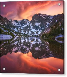 Indian Peaks Reflection Acrylic Print