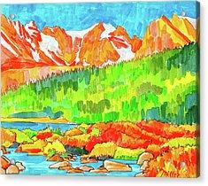 Indian Peaks Wilderness Acrylic Print