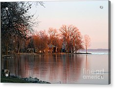 Indian Point First Ice Acrylic Print by Jack G  Brauer