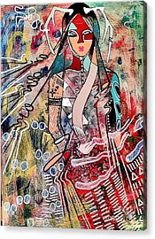 Indian Princess Acrylic Print by Amy Sorrell
