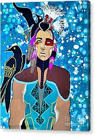 Indian Raven Acrylic Print by Amy Sorrell