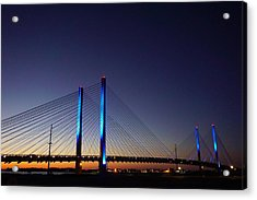Acrylic Print featuring the photograph Indian River Inlet Bridge by Ed Sweeney
