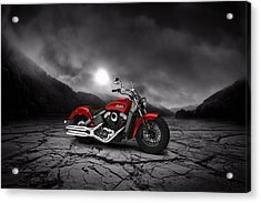 Indian Scout 2015 Mountains 02 Acrylic Print