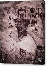 Indian Shaman Rock Art Acrylic Print by Gary Whitton