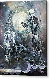 Indian Spirit Lunar Dance Acrylic Print