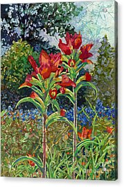Indian Spring Acrylic Print by Hailey E Herrera