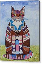 Indian Squirrel Cat Acrylic Print