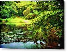 Indian Summer Lake Acrylic Print