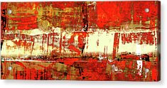 Indian Summer - Red Contemporary Abstract Acrylic Print