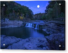 Indian Swimming Hole Moon Acrylic Print