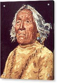 Indian Warrior Acrylic Print by Stan Hamilton