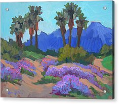 Acrylic Print featuring the painting Indian Wells Verbena by Diane McClary