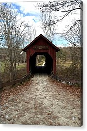 Indiana Covered Bridge Acrylic Print by Russell Keating