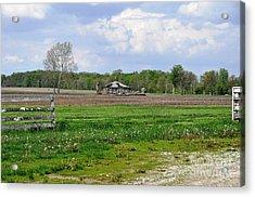 Acrylic Print featuring the photograph Indiana Farm by John Black