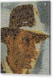 Acrylic Print featuring the mixed media Indiana Jones Treasure Coins Mosaic by Paul Van Scott