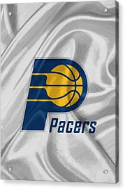 Indiana Pacers Acrylic Print by Afterdarkness