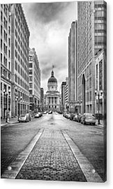 Indiana State Capitol Building Acrylic Print by Howard Salmon