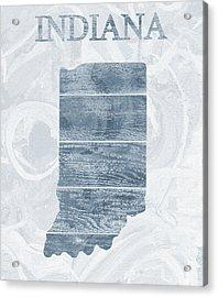 Indiana State Outline Barn Door Acrylic Print