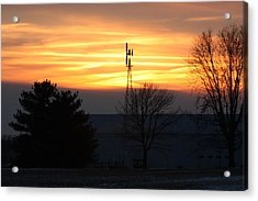 Indiana Sunset Acrylic Print by Bruce McEntyre