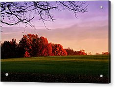 Indiana Sunset Acrylic Print