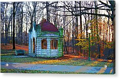 Indiana University Bloomington Old Campus Wellhouse Acrylic Print