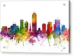 Indianapolis Cityscape 06 Acrylic Print by Aged Pixel