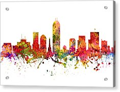 Indianapolis Cityscape 08 Acrylic Print by Aged Pixel