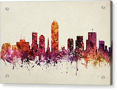 Indianapolis Cityscape 09 Acrylic Print by Aged Pixel