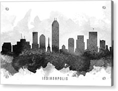 Indianapolis Cityscape 11 Acrylic Print by Aged Pixel