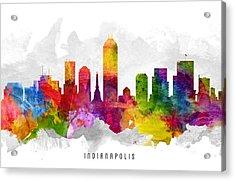 Indianapolis Indiana Cityscape 13 Acrylic Print
