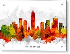 Indianapolis Indiana Cityscape 15 Acrylic Print