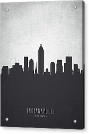 Indianapolis Indiana Cityscape 19 Acrylic Print by Aged Pixel