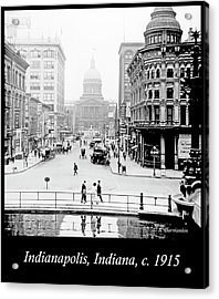 Indianapolis, Indiana, Downtown Area, C. 1915, Vintage Photograp Acrylic Print