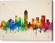 Indianapolis Indiana Skyline 05 Acrylic Print