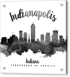 Indianapolis Indiana Skyline 18 Acrylic Print by Aged Pixel