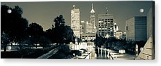 Indianapolis Indiana Skyline Panoramic Sepia Acrylic Print