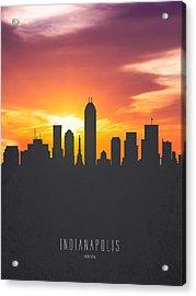 Indianapolis Indiana Sunset Skyline 01 Acrylic Print