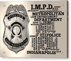 Indianapolis Metropolitan Police Department Silver Acrylic Print