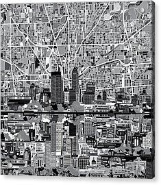 Indianapolis Skyline Abstract 6 Acrylic Print