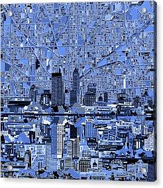 Indianapolis Skyline Abstract 7 Acrylic Print