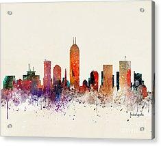 Indianapolis Skyline Acrylic Print