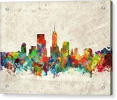 Indianapolis Skyline Watercolor 2 Acrylic Print