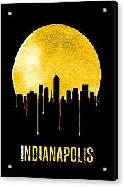 Indianapolis Skyline Yellow Acrylic Print