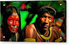 Indians Of Brazil - Da Acrylic Print by Leonardo Digenio