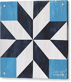 Indigo And Blue Quilt Acrylic Print