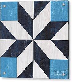 Indigo And Blue Quilt Acrylic Print by Debbie DeWitt