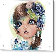 Acrylic Print featuring the mixed media Indigo - Butterfly Keeper - Munchkinz By Sheena Pike  by Sheena Pike
