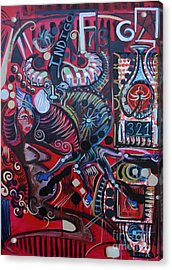 Indigo Acrylic Print by Michael Kulick