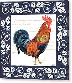 Indigo Rooster 1 Acrylic Print by Debbie DeWitt